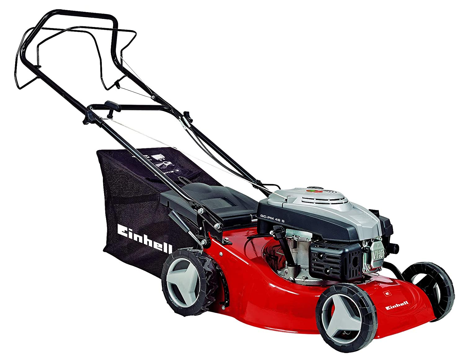 Einhell GC-PM 46 S Self Propelled Petrol Lawnmower with 46 cm Cutting Width - Red 3404720