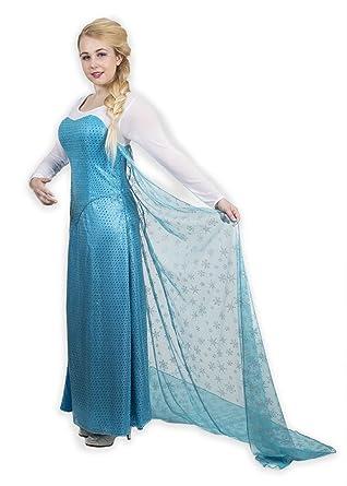 faec7485ea1e6 Amazon.com: Princess Elsa from Frozen Inspired Gown Fantasy Cosplay ...