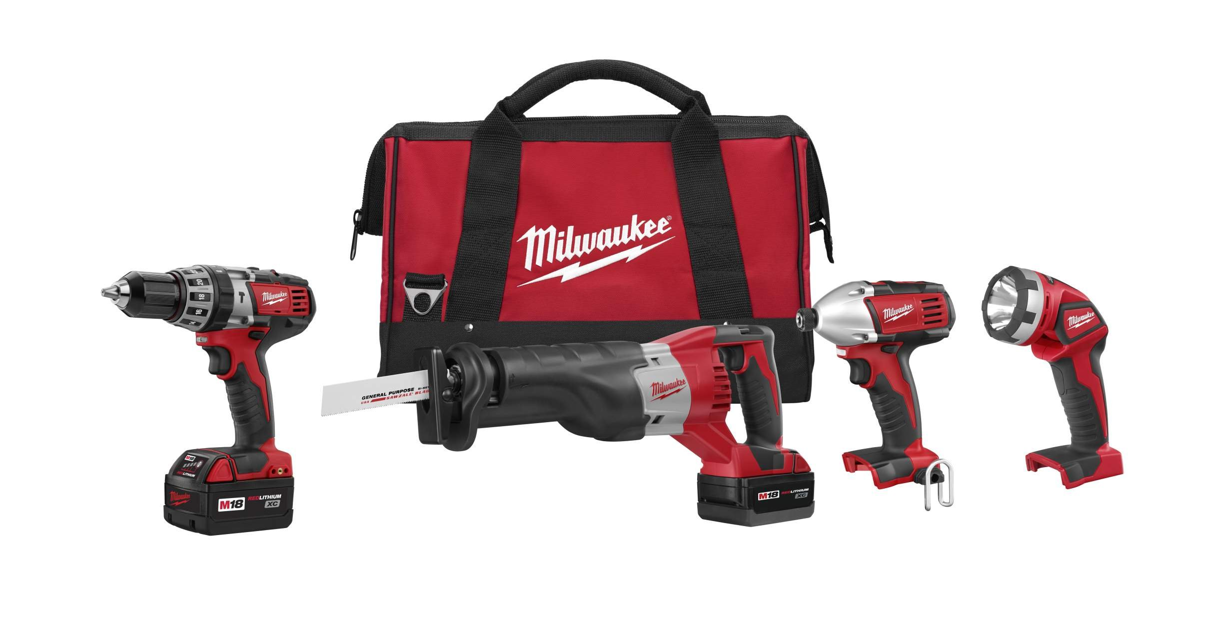 Milwaukee 2696-24 M18 Cordless Compact Combo Tool Kit