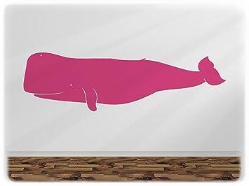 Wandfabrik   1 Blauwal In Pink   Wandtattoo Geeignet Als Dekoration  Klebefolie Wandbild Wanddeko Tiere Für