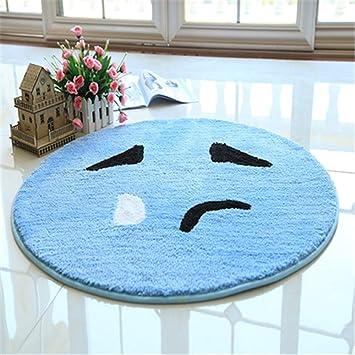 kupark Emoji Smiley Emoticon gelb rund Teppich Bereich Teppich ...