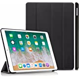 iPad Pro 10.5 Hülle, EasyAcc Ultra Dünn iPad Pro 10.5 Smart Cover mit Auto Sleep / Wake Up Funktion und Standfunktion - Hochwertiges PU Leder Hülle (Schwarz, Kunstleder, Ultra Dünn)