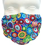 Breathe Healthy Face Mask for Dust, Allergy & Flu; Adjustable Ear Loops, Washable Antimicrobial; Medallions Design (Adult)