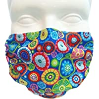 Breathe Healthy Face Mask for Dust, Allergy & Flu; Adjustable Ear Loops, Washable Antimicrobial; Medallions Design (Child)