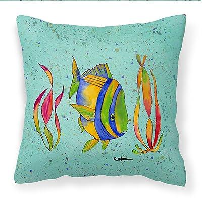 Caroline's Treasures 8530PW1414 Tropical Fish Decorative Canvas Fabric Pillow, 14Hx14W, Multicolor : Garden & Outdoor