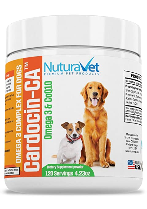 3dc9033d4855 NuturaVet Cardocin-CA Omega 3 Complex For Dogs By Dietary Supplement With  Fish Oil