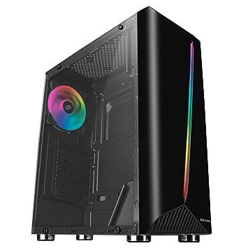 Mars Gaming MCX Negra - Caja PC, Cristal Templado, Ventilador RGB Dual Ring, ATX: Amazon.es: Informática