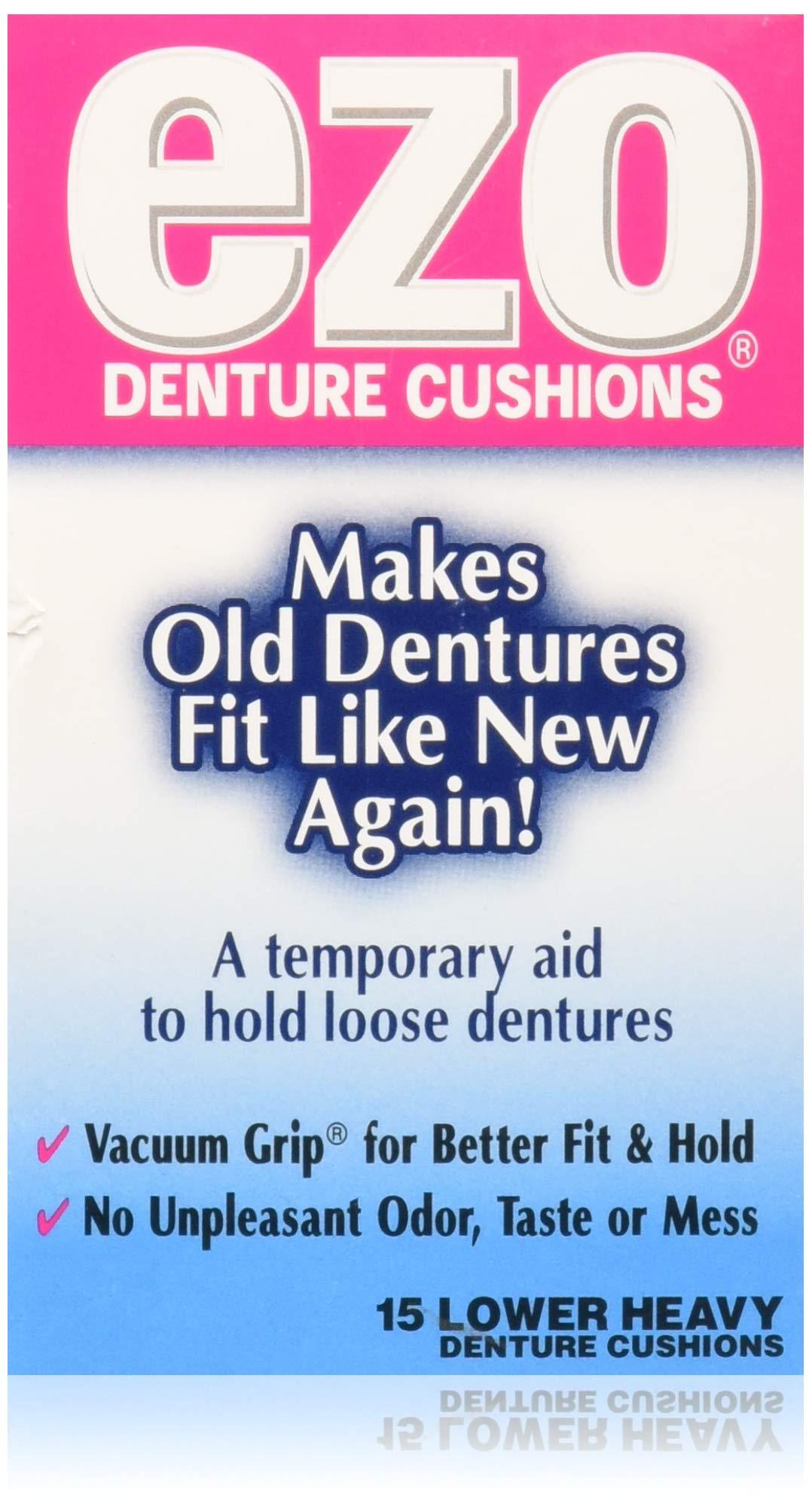 Ezo Denture Cushions, Lower Heavy, 15 cushions (Pack of 1)
