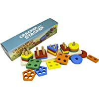 Cracker of A Stacker Wooden Stacking Toy by Little Roos | Durable Educational Preschool Toys for Kids, Supporting fine…