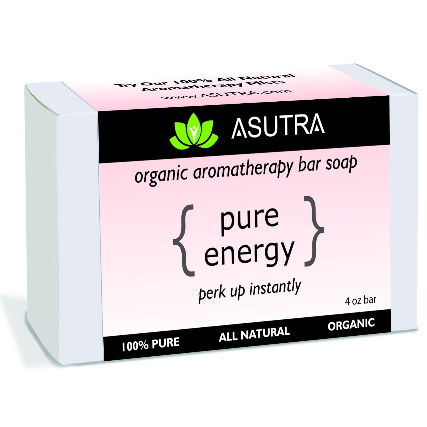Amazon.com : ASUTRA Natural Organic Aromatherapy Bar Soap - PURE ...