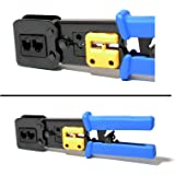 RJ45 Crimping Tool with Wire Cutter and Cable Stripping Blades RJ11/12