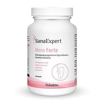 SanaExpert Meno Forte, Suplemento Multivitamínico Para Mujeres en Periodo de la Menopausia con Isoflavonas de Soja, Calcio, Selenio, Vitaminas y ...