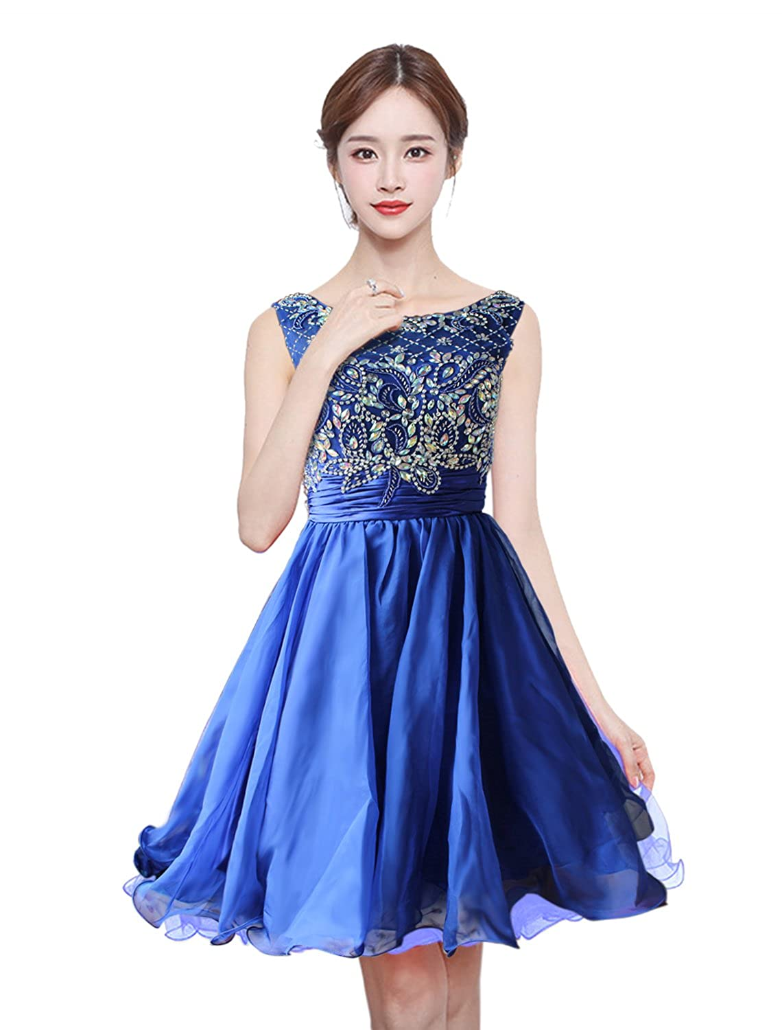 superior performance purchase newest terrific value Anlin Short Prom Dresses Open Back Sequins Homecoming Dresses