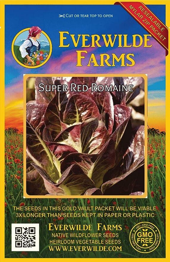 everwilde granjas – Super rojo semillas de lechuga romana – dorado ...