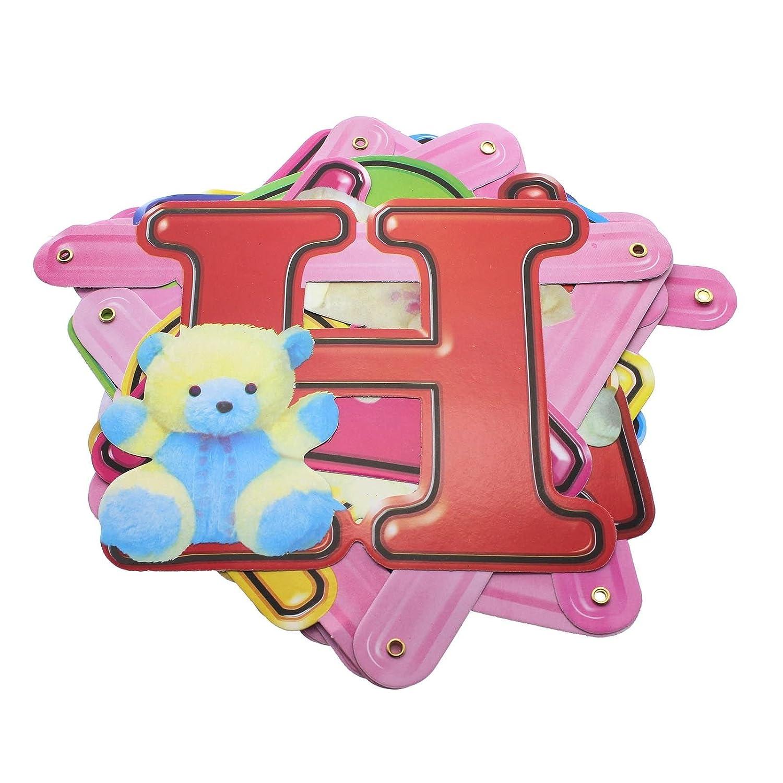 5 patrones Feliz Cumpleaños cartas Banner colgantes del bebé ...