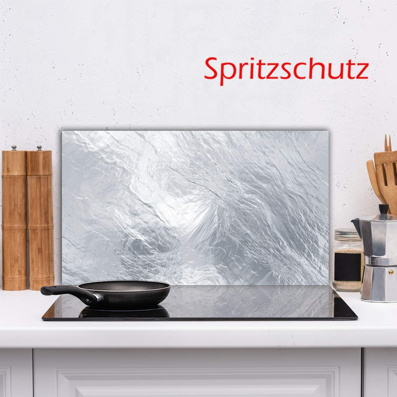 Herdabdeckplatte Ceranfeld Textur Grau 1 Teilig 90x52 Kochplatten Glas Induktion