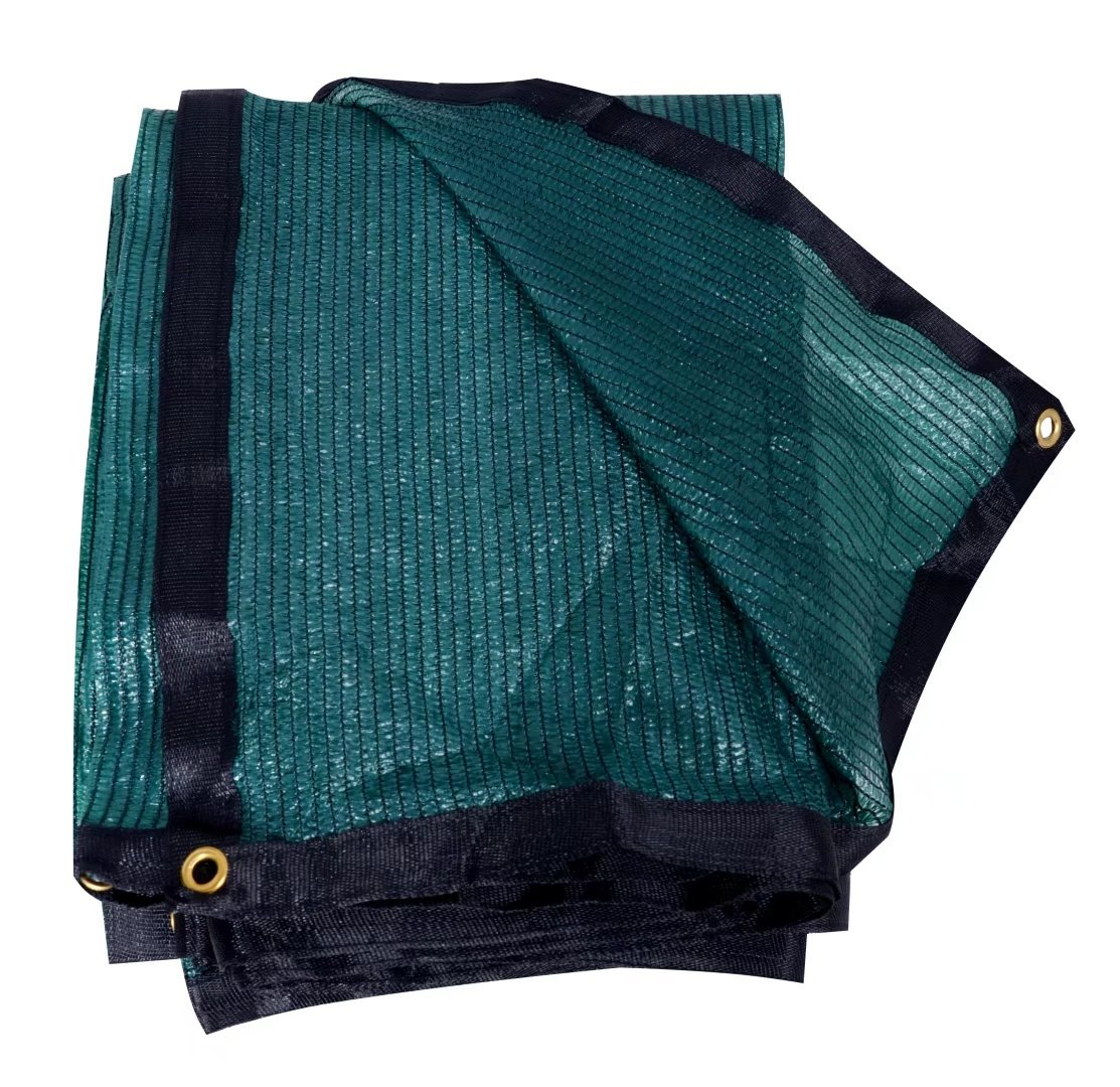 YGS 70% Sunblock Shade Cloth with Grommets 20ftx36ft Green for Plant Cover Greenhouse,Barn,Kennel, Pool, Pergola or Carport