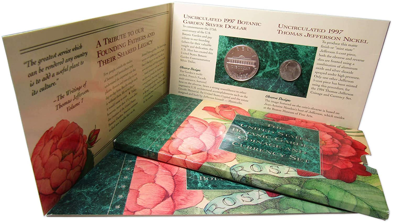 1997-P $1 U.S Botanic Garden Commemorative Silver Dollar Choice Uncirculated