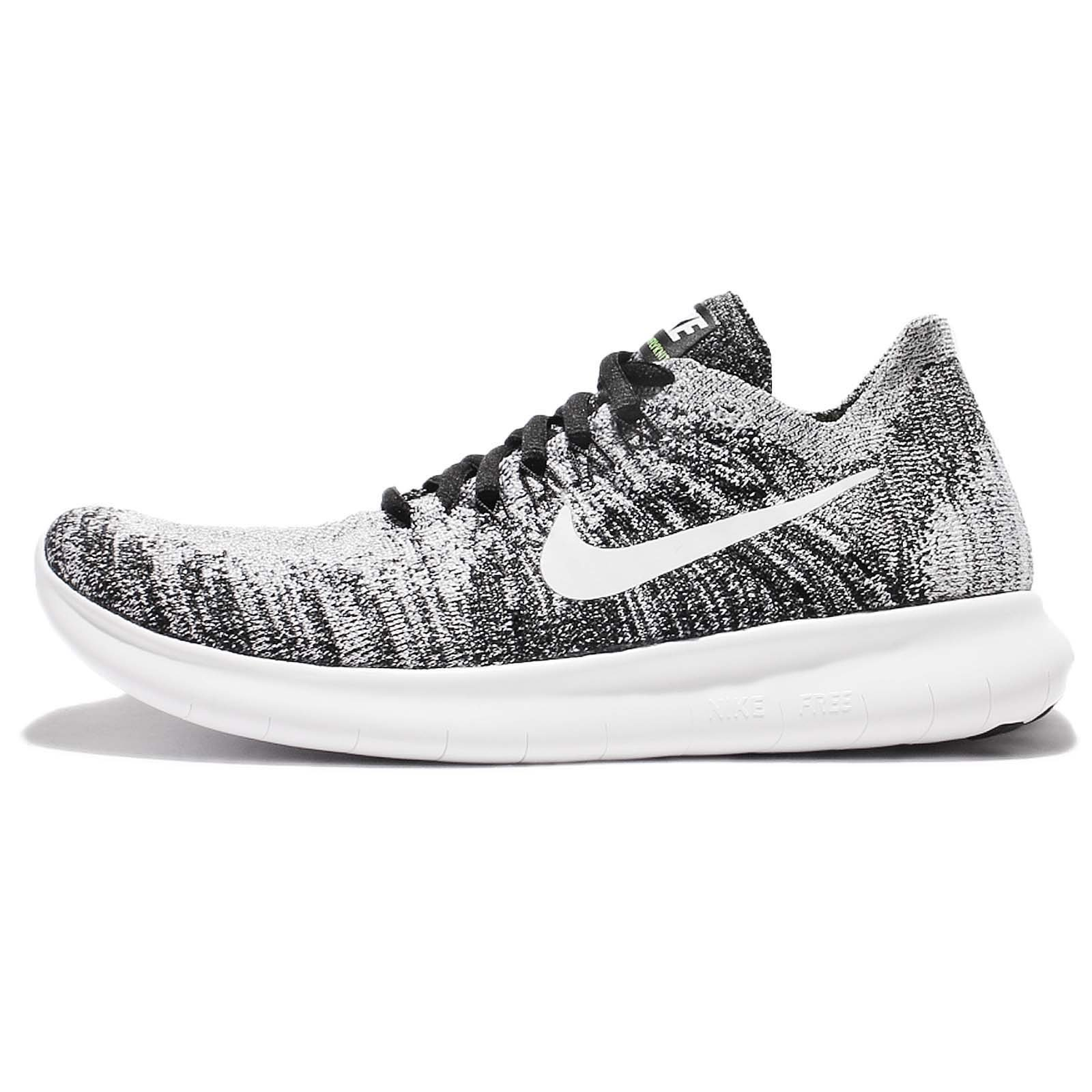 9145c9123e528 Galleon - Nike Womens Free RN Flyknit 2017 Running Shoes Black/Volt/White  880844-003 Size 9.5