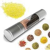 SUPOW Salt & Pepper Grinder 2 in 1 Dual Salt & Pepper Mill Grinders Kitchen Utensils & Gadgets With Adjustable Rotor