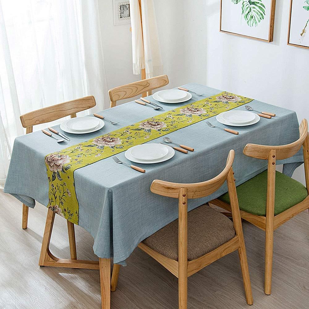 テーブルクロステーブルカバー テーブルクロス シンプル 綿とリネン ジャカード 防塵 正方形 コーヒーテーブル 装飾 ホーム テーブルクロス に適用する ホーム 害虫、蛾、汚れ、カビ、バクテリア、臭いを防ぎます。 (サイズ : 138*200cm) 138*200cm  B07RNWXRN6