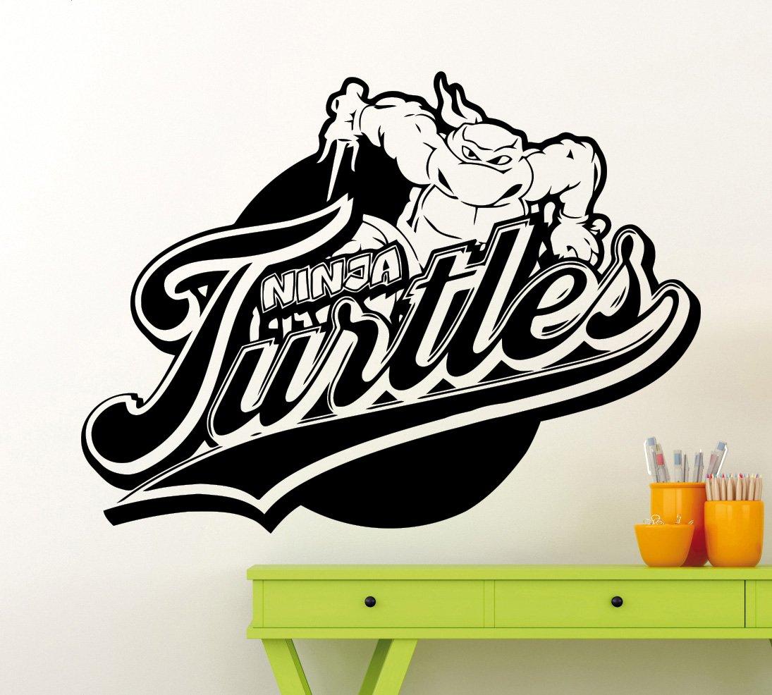 Turtles Ninja Logo Wall Decal Superhero Sticker Comics Art ...