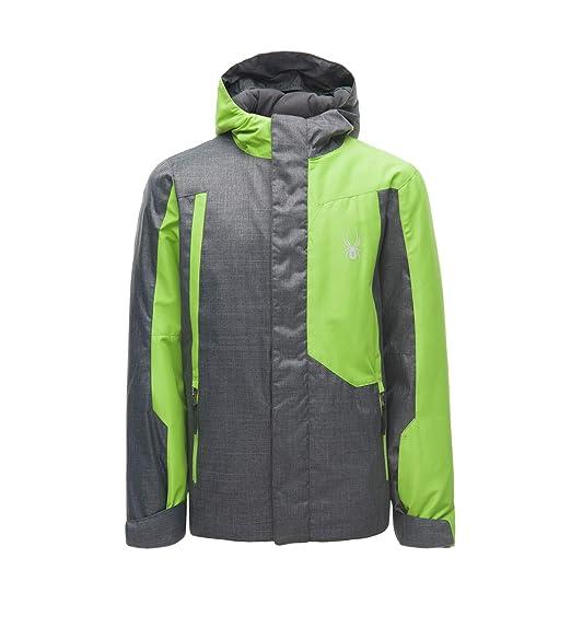 c2872c968 Spyder Boys' Flyte Ski Jacket, Polar Herringbone/Fresh, Small