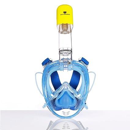Dri-Armour Máscara de Snorkel de cara completa con Visión ...