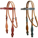 Tahoe Gator Pink Swarovski Crystal Inlayed Browband Horse Headstall USA Leather Full, Pony, Mini Sizes Super Sale