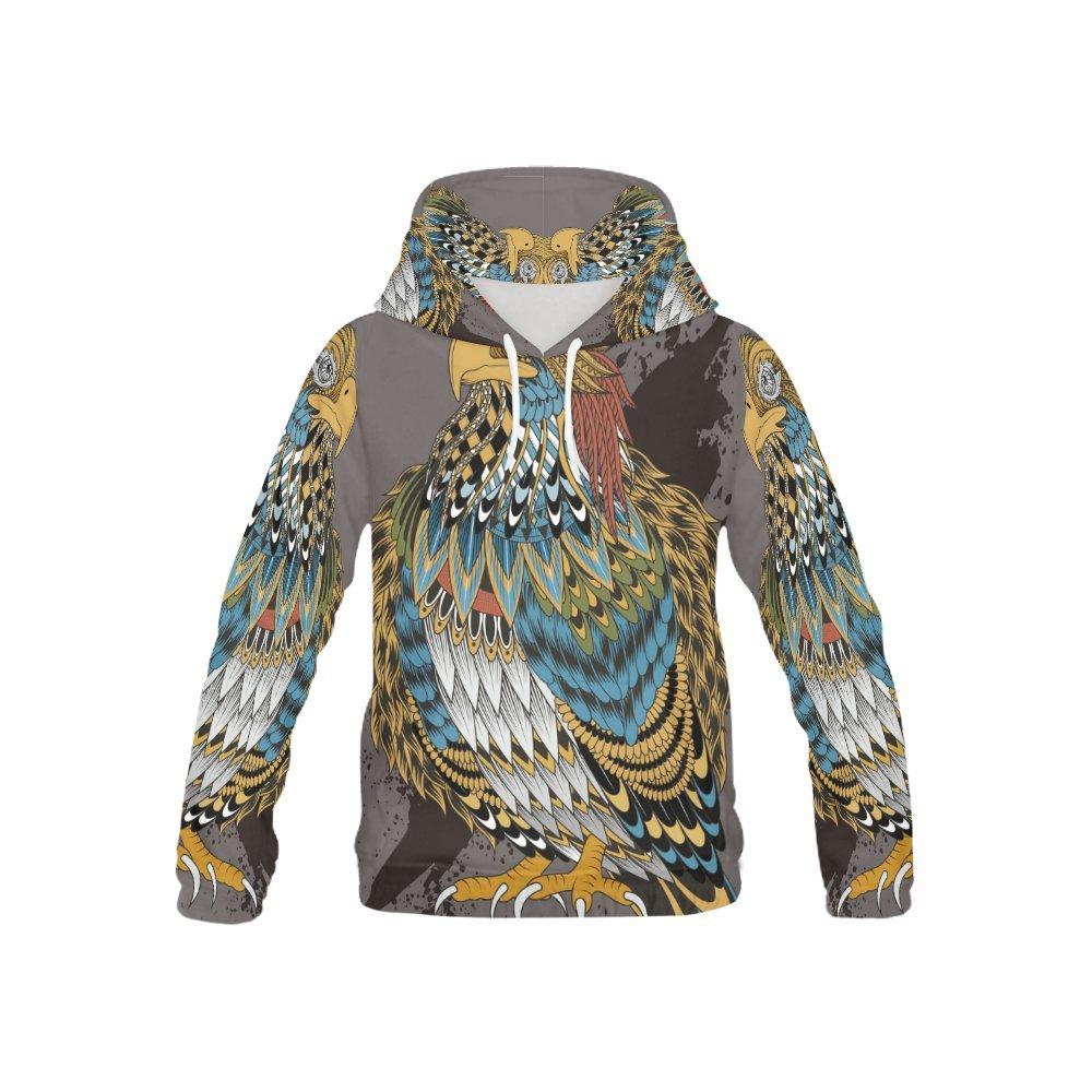 LumosSports Native American Indian Art Print Kid's 3D Printed Pullover Hooded Sweatshirt