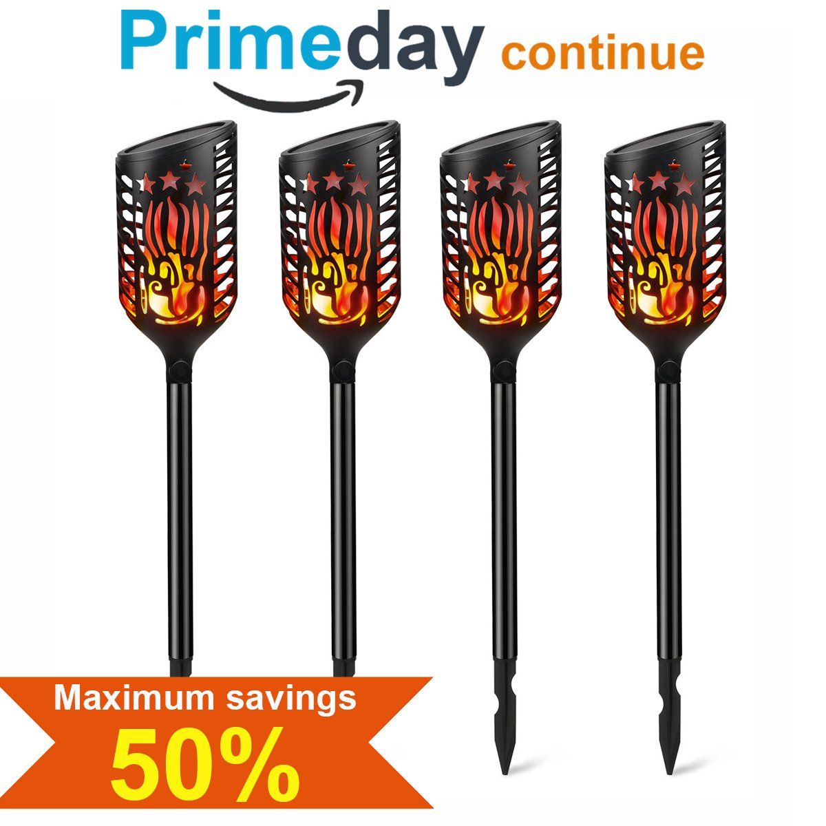 Torches Lights Outdoor, Mworld Solar Lights Waterproof Dancing Flickering Flames Path Light, 102 LEDs Landscape Lighting, Auto Dusk To Dawn Garden Light Decoration For Patio Yard Driveway (4 PCS)