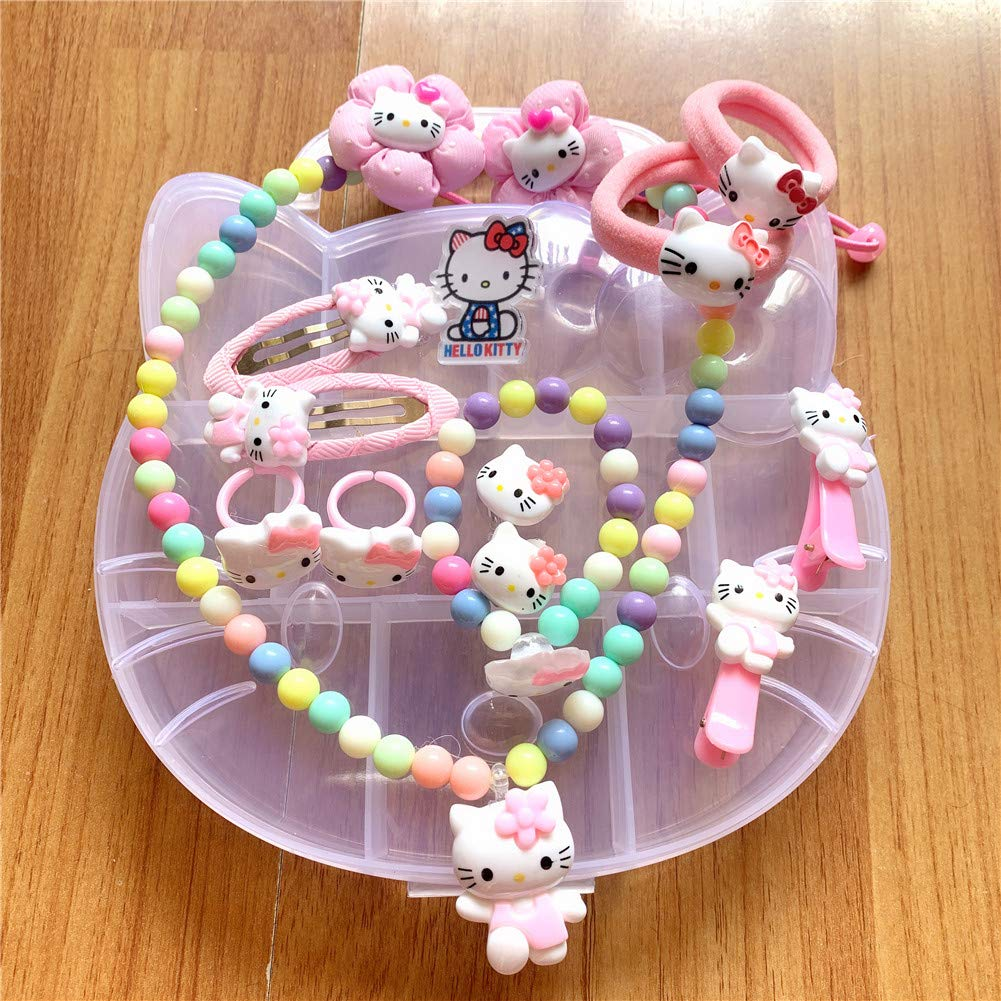 5422aa44e Amazon.com: Yefashion Jewelry Set for Kid Hello Kitty Minnie Mouse Girl Ear  Clip Hair Clip Necklace Dress-up Costume (K1): Toys & Games