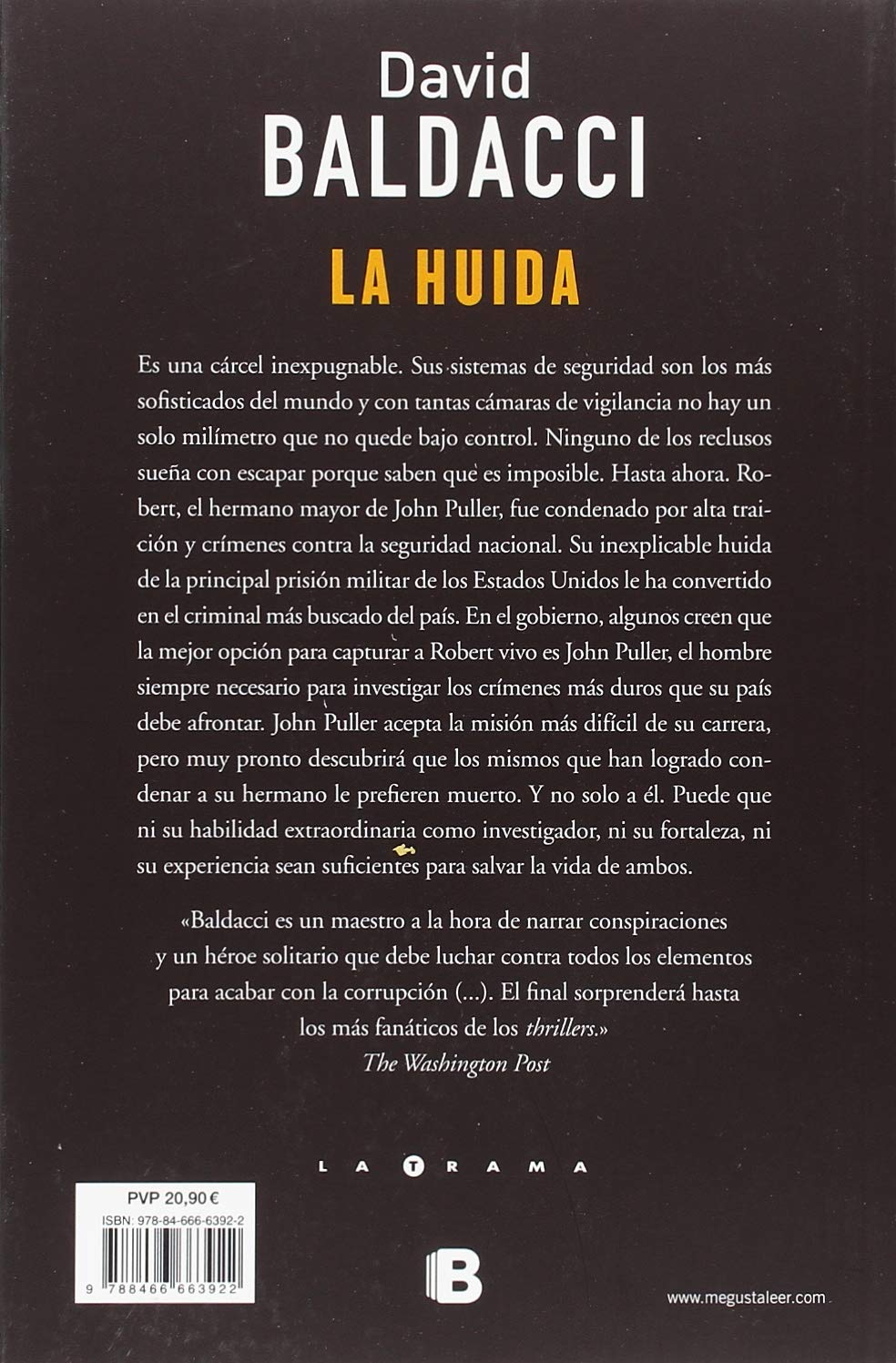 Amazon.com: La huída / The Escape (John Puller) (Spanish Edition) (9788466663922): David Baldacci: Books