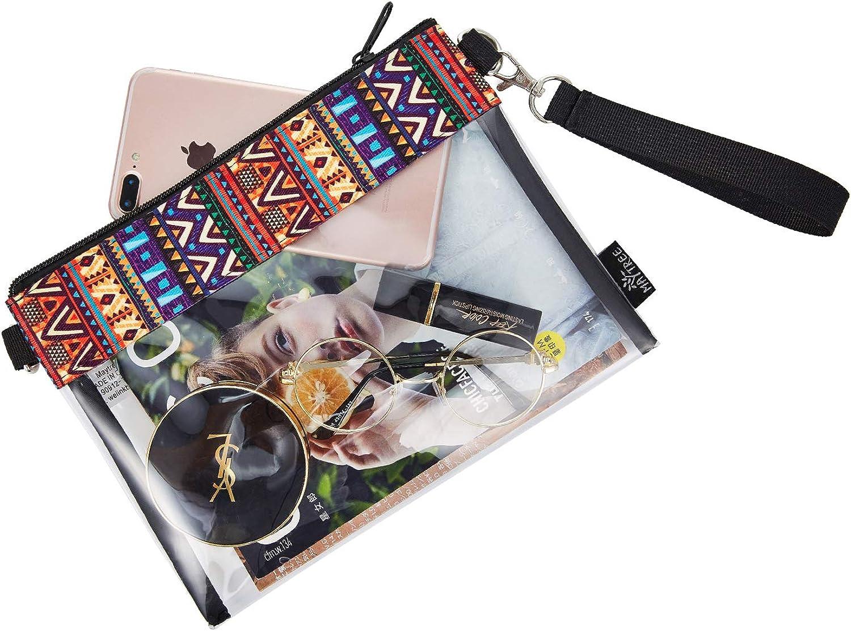 Clear Crossbody Purse Bag Gym Zippered Tote Bag for Work Sports Games NFL Stadium Approved Transparent Shoulder Bag
