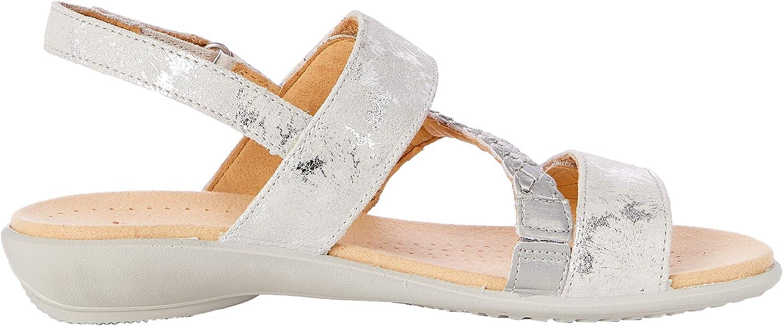 Hotter Damen Ripple Sandale Platinum Multi