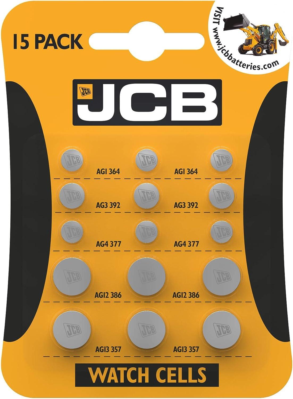 Jcb Watch Battery Pack Of 15 Mixed 5 Most Popular Elektronik