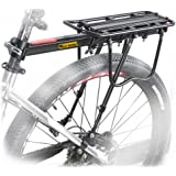 West Biking 110Lb Capacity Almost Universal Adjustable Bike Cargo Rack Cycling Equipment Stand Footstock Bicycle Luggage Carr