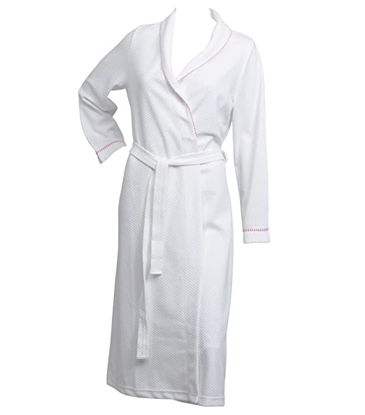 Ladies Lightweight White Waffle Dressing Gown 100% Polyester Wrap ...