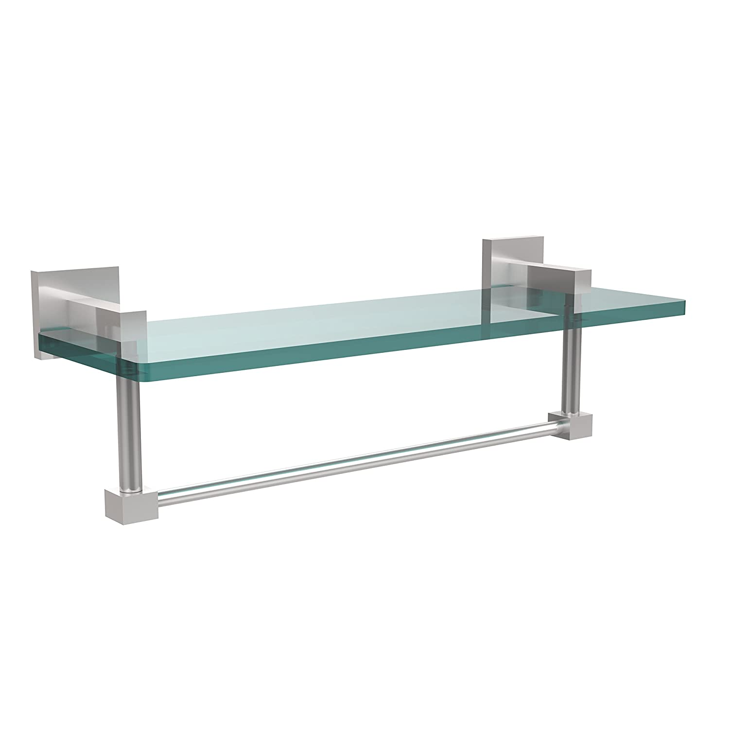Allld Allied Brass MT-1-16TB-SCH Montero Collection 41cm Glass Vanity Shelf with Integrated Towel Bar, B01DPULBMW クリア クリア