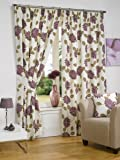 Hamilton McBride Avonfield Plum Fully Lined Readymade Curtain Pair 66x54in(167x137cm)
