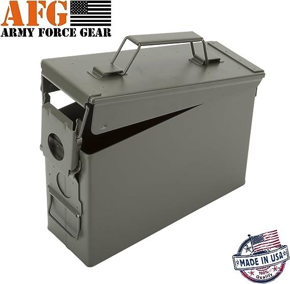 Nueva 30 cal munición caja puede M19 A1 Militar pistola seguro caso, pequeña caja de municiones: Amazon.es: Deportes y aire libre