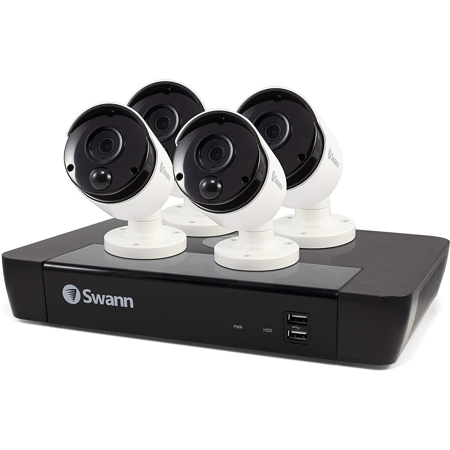 Swann 4 Camera 8 Channel 5MP Super HD NVR Security System   2TB HDD, Heat & Motion Sensing + Night Vision & 2 Way Audio by Swann