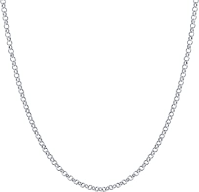 lobster claw clasp FAST SHIPPING 18 inch silver plated 1mm Rolo chain polished chain