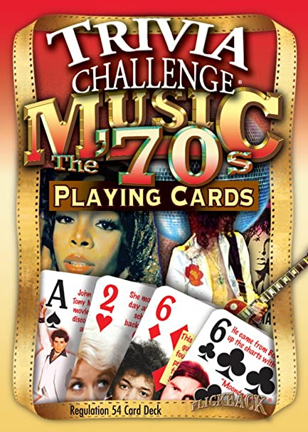 Amazon Flickback 1970s Music Trivia Playing Cards 40th