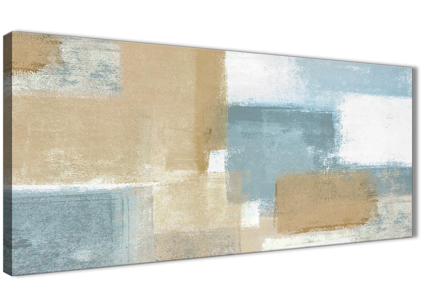 Blau Beige Braun Abstrakte Malerei Leinwand Kunstdruck–modernes 120cm breit–1350Wallfillers