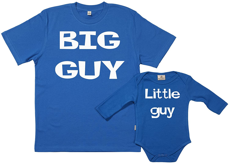 SR - Exklusive Geschenkbox - Big Guy Little Guy 100% Biobaumwolle - Vater Sohn Geschenkset in Geschenkbox GRO140
