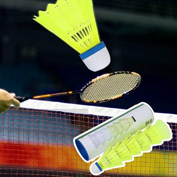 6PC Training Exercise Nylon Shuttlecocks Badminton Ball Game Sport Multicolor .