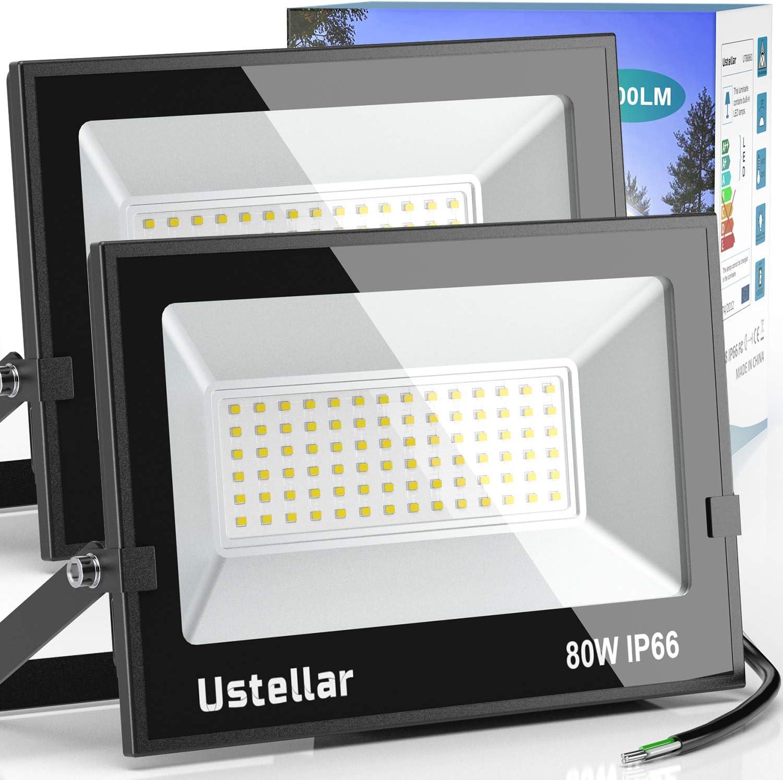 LTE 50W Super Bright Outdoor LED Flood Lights, 3800 Lumen,150W HPS Bulb Equivalent, 6000K, IP66 Waterproof, Floodlight, Security Lights.(Daylight White)