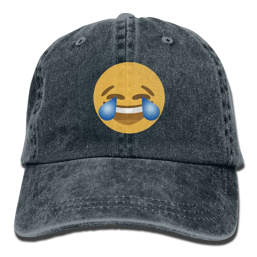 XZFQW Face With tears Trend Printing Cowboy Hat Fashion Baseball Cap For Men and Women Black