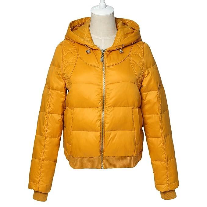 Para mujer diseño de cazadora con capucha abrigos Puffa Bomber trineo y conejo sudadera con capucha de ropa acolchado amarillo UK 10, 12: Amazon.es: Ropa y ...